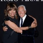 Giorgio Armani e Tina Turner