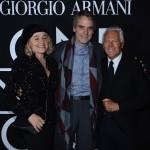 Mr. Armani and Jeremy Irons