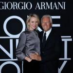 Mr. Armani and Naomi Watts
