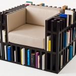 Bibliochaise – a cadeira biblioteca para otimizar espaço na sua casa