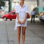 white-shirtdress-spring-trend-Leandre-Medrine-Man-Repeller-street-style-photo-by-Diego-Zuko-via-Harpers-Bazaar