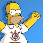 Homer Simpson torce para o Corinthians