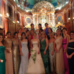 A noiva com as madrinhas