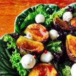 Receita do dia: Salada Verde com Figo Grelhado e Molho de Maça e Iogurte