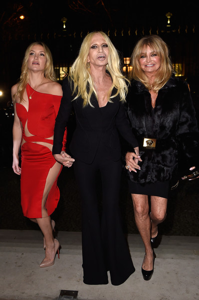 Kate Hudson, Donatella e Goldie Hawn
