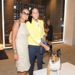Lucila e Manu Elias e o cão Snoop