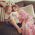 Anja e Noah, filhos de Alessandra Ambrosio