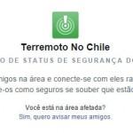 Facebook ativa ferramenta para auxiliar vítimas de terremoto no Chile