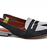 BOTTI - BB111 - marinho - sapatilha masculina em couro estampado com detalhe em couro estampado de lezard azul bb, detalhe do elastico verde limão - R$ 625,00