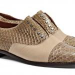 BOTTI - BBK01 Sapato Modelo Masculino em Couro de Cobra Nude e Couro Natural - R$985,00  (01)