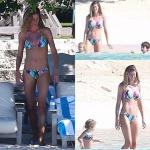Gisele Bündchen de biquini nas Bahamas. Fez ou não plástica?