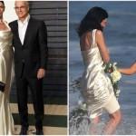 Atriz usa vestido de casamento em festa pós Oscar