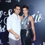 Juliano Cazarré e esposa