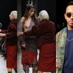 Vivienne Westwood invade passarela para arrumar look que deixou peito de modelo à mostra