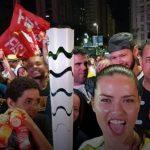 Adriana Lima com a tocha Rio 2016