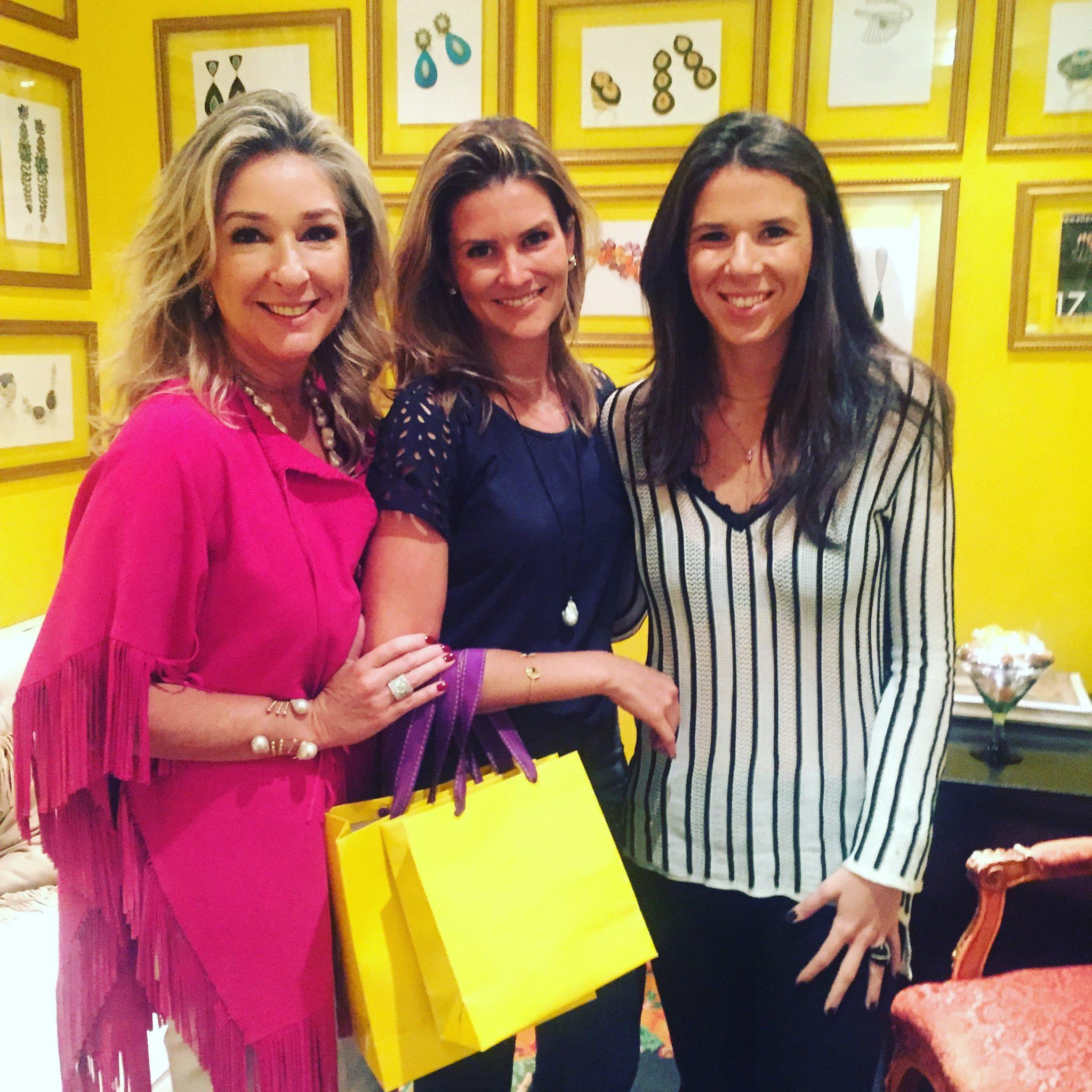 Letícia, Renata Batti Ferro e Marcela Linton