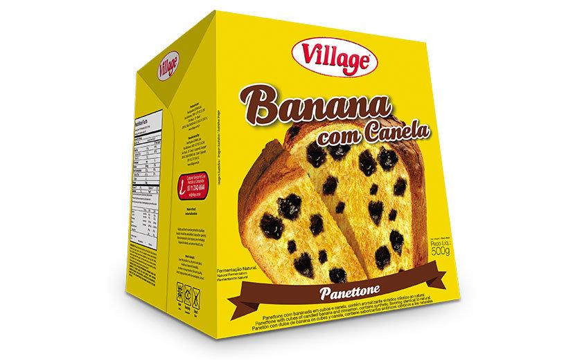 Panetone de Banana com Canela