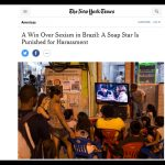 Deu no New York Times …