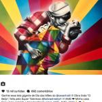 Ticiane Pinheiro ganha quadro de ex, Cesar Tralli