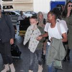 Brad Pitt passa o Dia dos Pais com os filhos