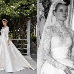 Miranda Kerr se casa com vestido inspirado em Grace Kelly