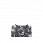 Chanel-Black-Printed-Canvas-with-Sequins-Classic-Mini-Flap-Bag