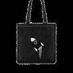 Chanel-Black-Tweed-Rocket-Embellished-Large-Shopping-Bag