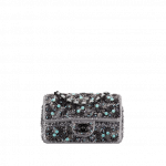 Chanel-CharcoalBlue-Embroidered-Fabric-Classic-Mini-Flap-Bag