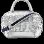 Chanel-Silver-Embossed-Nylon-Chanel-Doudoune-Large-Zipped-Shopping-Bag
