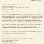 Ganhadores de Nobel enviam carta a Temer em defesa da ciência brasileira