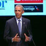 Obama realiza palestra em São Paulo