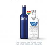 Concorrentes, vodkas Skyy e Absolut se unem em apoio a casamento LGBT