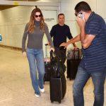 Gisele Bündchen desembarca em São Paulo