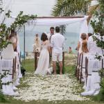 Manu Berger, CEO do Terapia do Luxo tem vestido de noiva assinado pelo estilista Sandro Barros