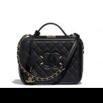 Chanel-Black-CC-Filigree-Medium-Vanity-Case-Bag