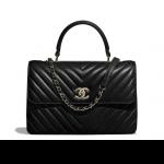 Chanel-Black-Chevron-Trendy-CC-Medium-Top-Handle-Bag