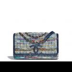 Chanel-Blue-Multicolor-TweedWater-Snake-CC-Filigree-Medium-Flap-Bag