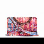 Chanel-Multicolor-Printed-Fabric-Foulard-Medium-Flap-Bag