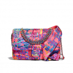 Chanel-Multicolor-Printed-Fabric-Foulard-Small-Flap-Bag