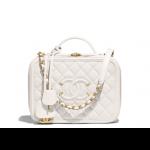 Chanel-White-CC-Filigree-Medium-Vanity-Case-Bag
