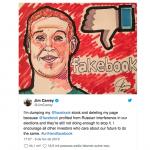 Jim Carrey faz campanha contra o Facebook e apaga página na rede social