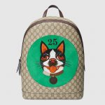 Gucci-Green-Bosco-Patch-GG-Supreme-Backpack-Bag