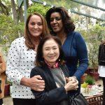 Sonia Hess, Chieko Aoki e Rachel Maia