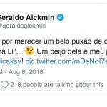 Geraldo Alckmin comete gafe e chama Angélica de Eliana
