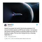 SpaceX vai anunciar nome do primeiro turista lunar na segunda-feira
