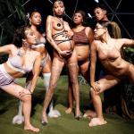Modelo grávida em desfile de Rihanna entra em trabalho de parto ao sair da passarela