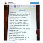 Irmão de Bruno Gagliasso divulga briga com Giovanna Ewbank pelo WhatsApp