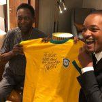 Will Smith realiza sonho de conhecer Pelé