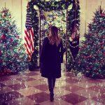 Melania Trump mostra decoração de Natal da Casa Branca