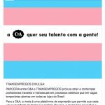 C&A abre vagas temporárias de emprego para travestis e transexuais